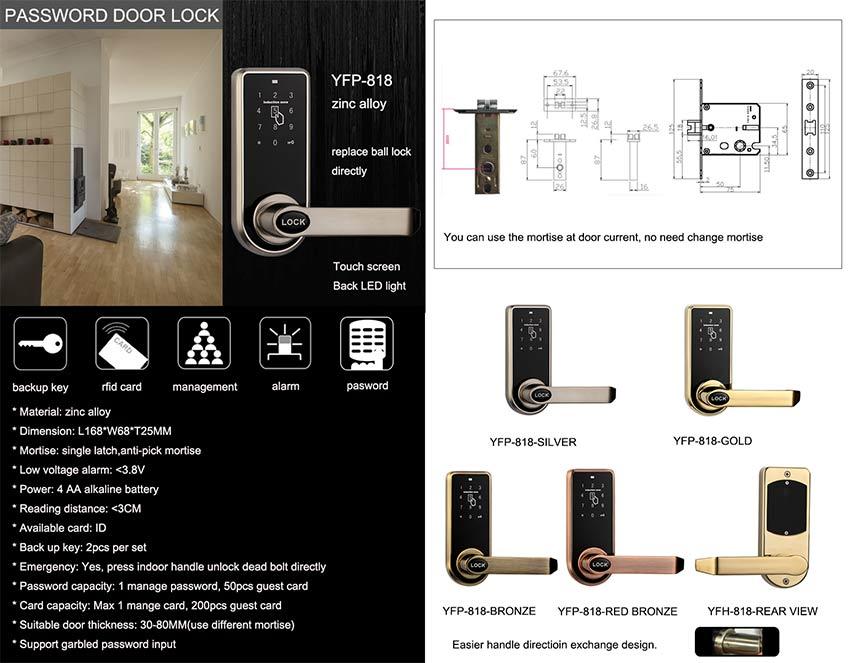 ID Card Password Door Lock YFP-818