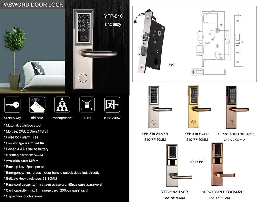 Mifare Card Password Door Lock YFP-810