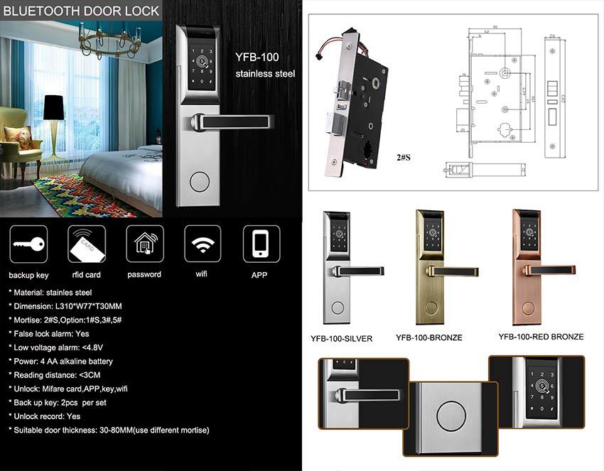 Password Bluetooth Door Lock YFB-100