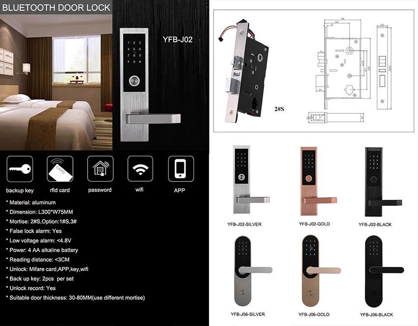 Password Bluetooth Door Lock YFB-J02