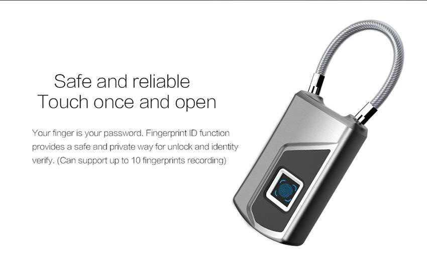 Fingerprint Pad Lock L1
