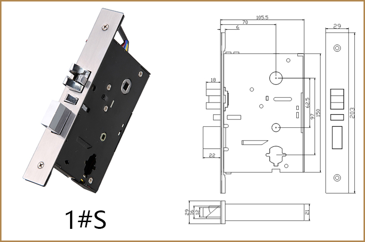 304 Stainless Steel Hotel Smart Card Lock YFHF-02S