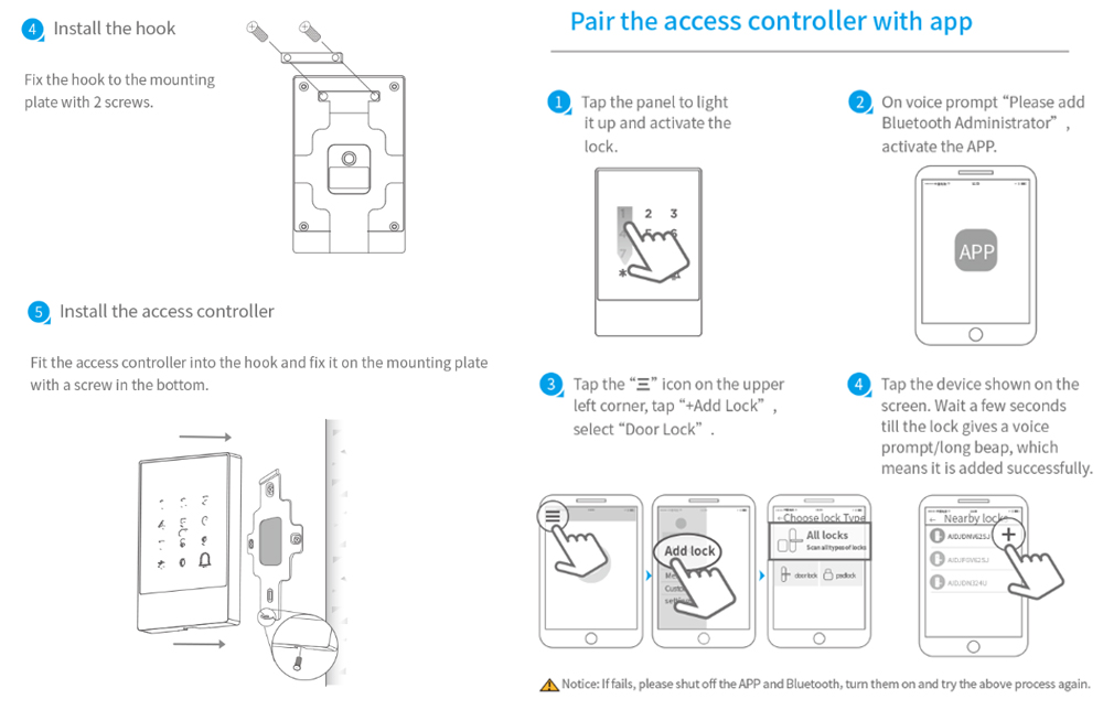 IP66 Waterproof Bluetooth Remote Control Access Control Reader YFBA
