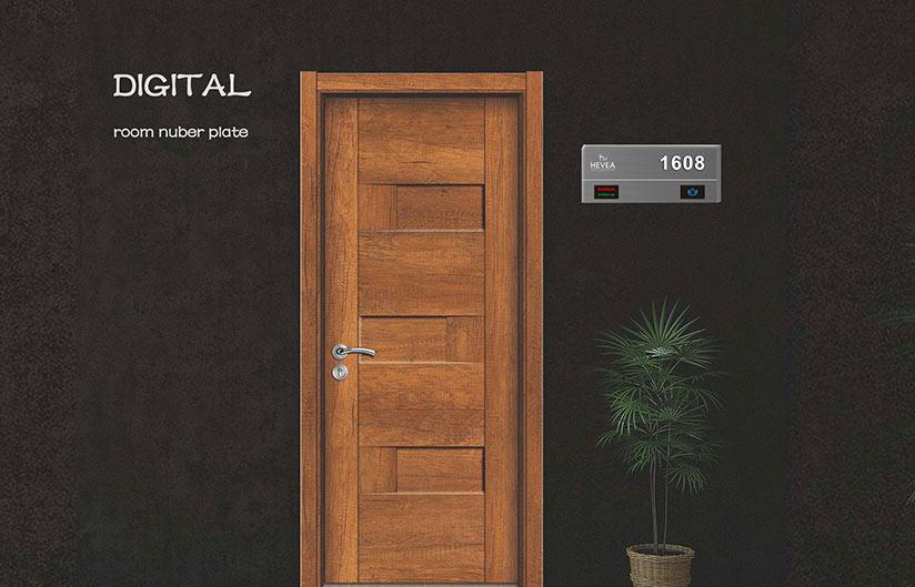 Digital Room Number Plate
