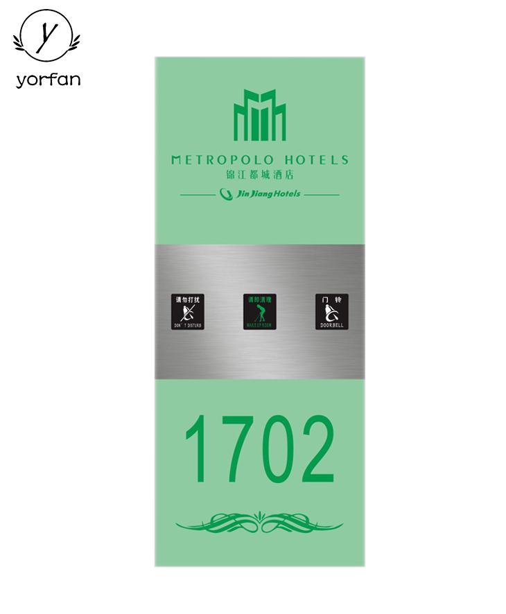 Crystal Hotel Digital Number Plate MTX-340