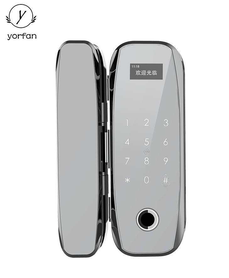 Yorfan Frameless Fingerprint Glass Door Lock YFG-F160